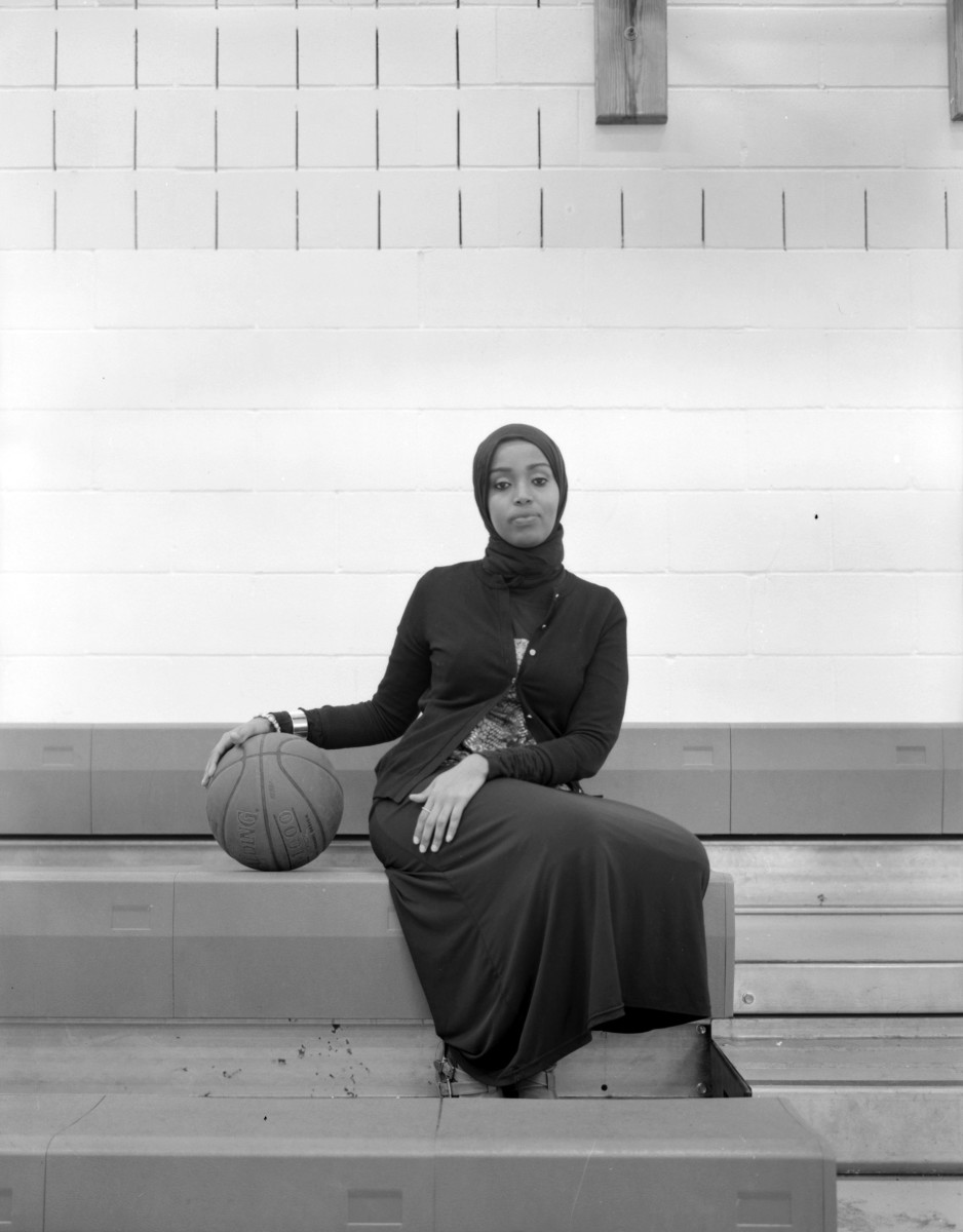 Fatimah Hussein, founder of Asiya, a made-in-the-U.S.A. sportswear and hijab line for female Muslim athletes, and the non-profit G.I.R.L.S. (Girls Initiative in Recreation and Leisurely Sports), which provides open gym-time for Muslim girls in Minneapolis' Cedar-Riverside neighborhood.