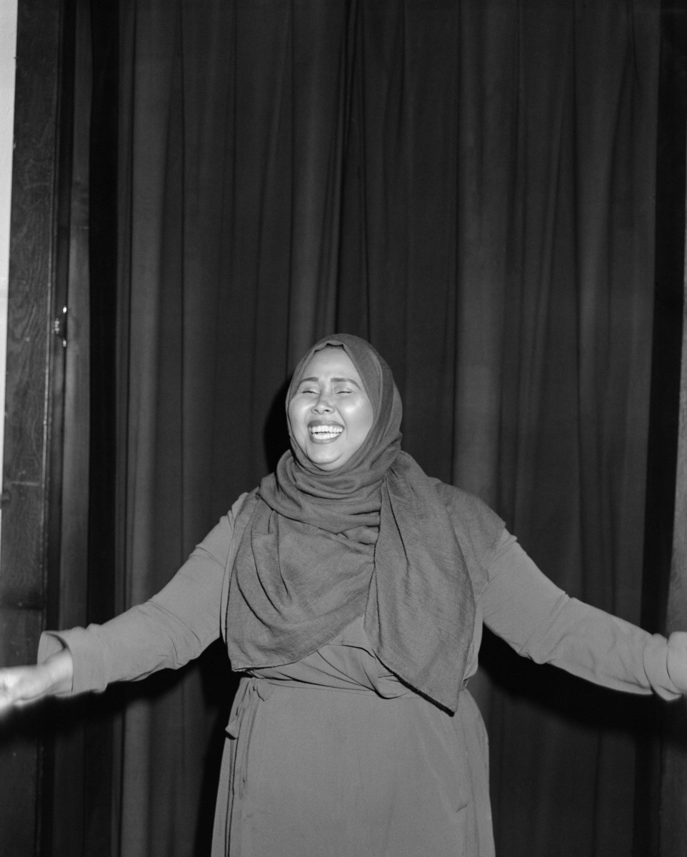 Hodan Ugas, poet and spoken-word artist, currently working as a mentor to a group of young Somali women writers.