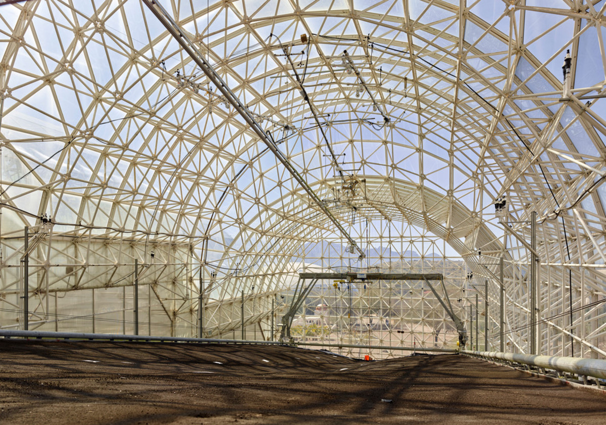 Inside Biosphere 2.