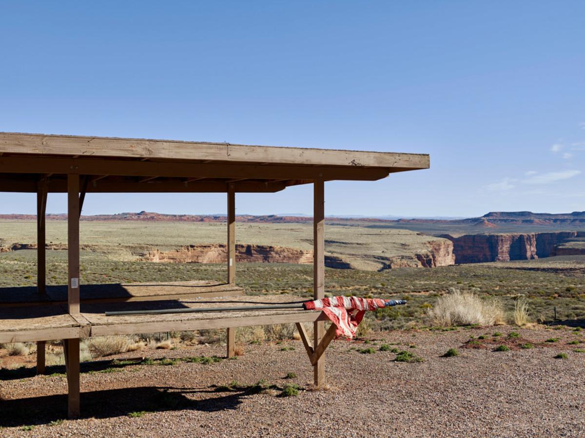 Outside the entrance to the Glen Canyon National Recreation Area, Arizona.