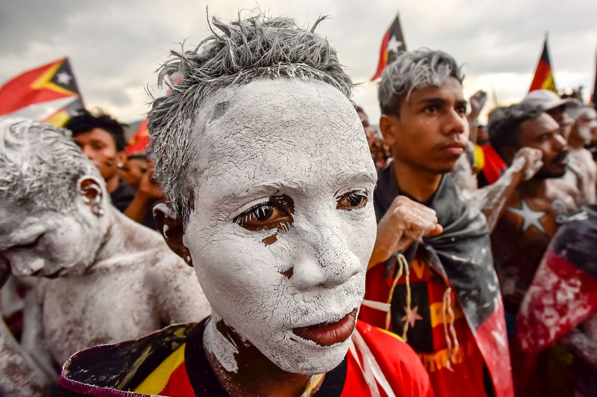 Fretilin party supporters participate in an election campaign rally in Dili, East Timor, on July 19th, 2017.