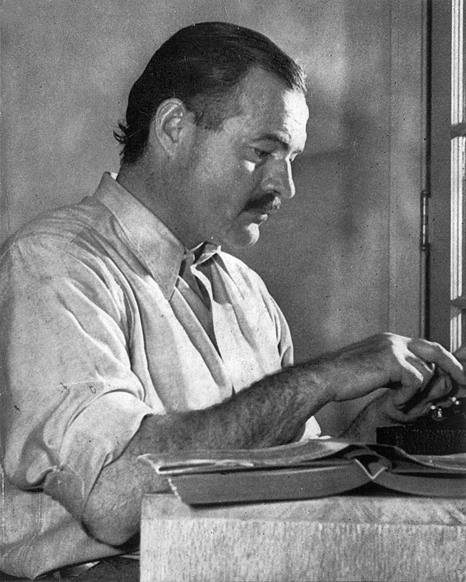 Ernest Hemingway loved his alcohol, but he only imbibed after his work for the day was done.