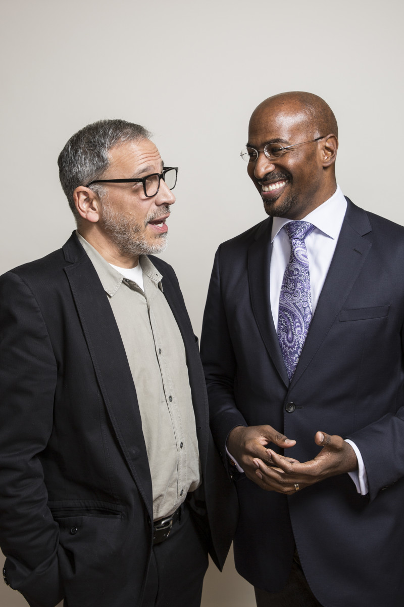 Journalist Rubén Martínez with author and commentator Van Jones.