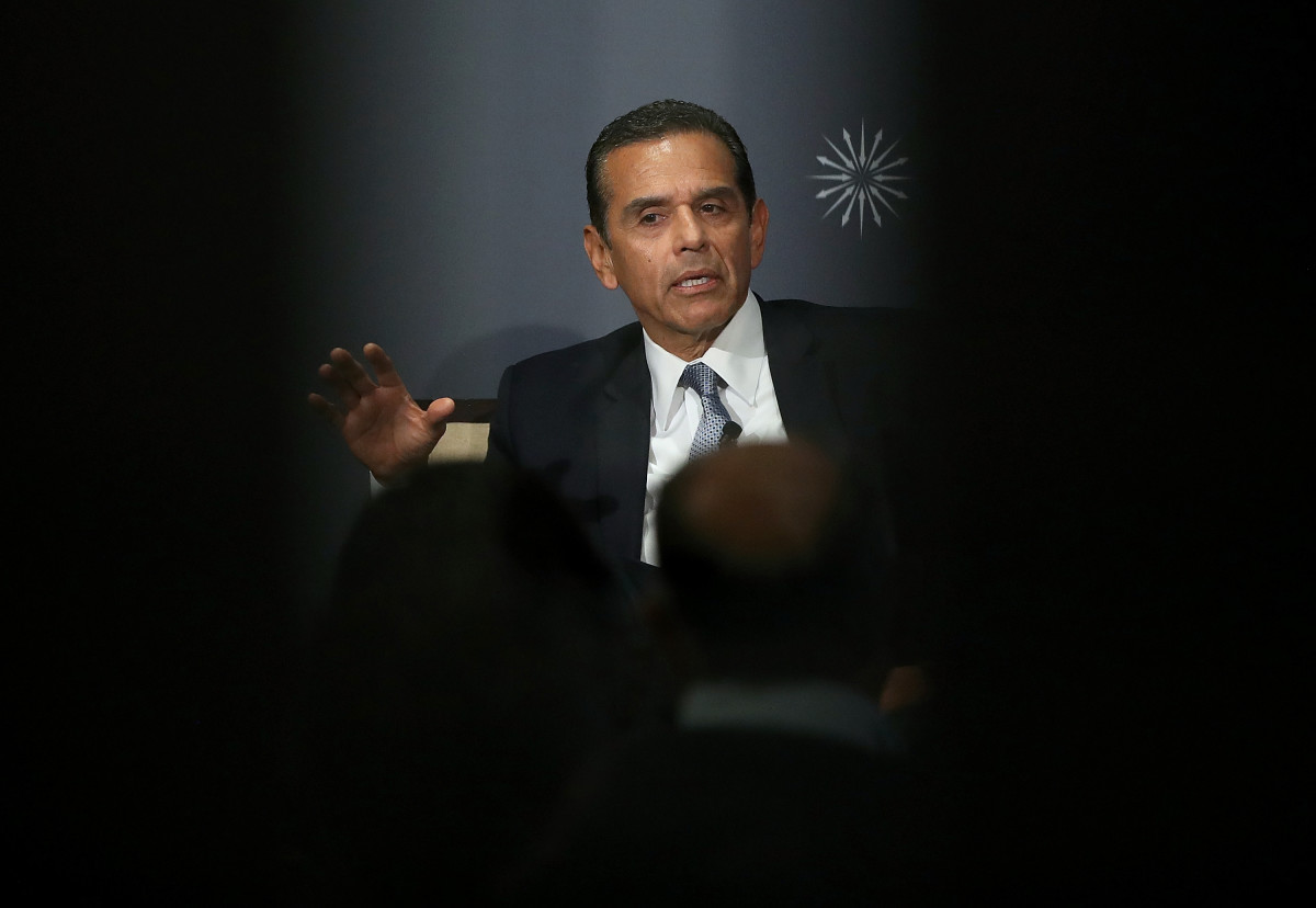 Antonio Villaraigosa speaks in San Francisco, California, on June 6th, 2017.