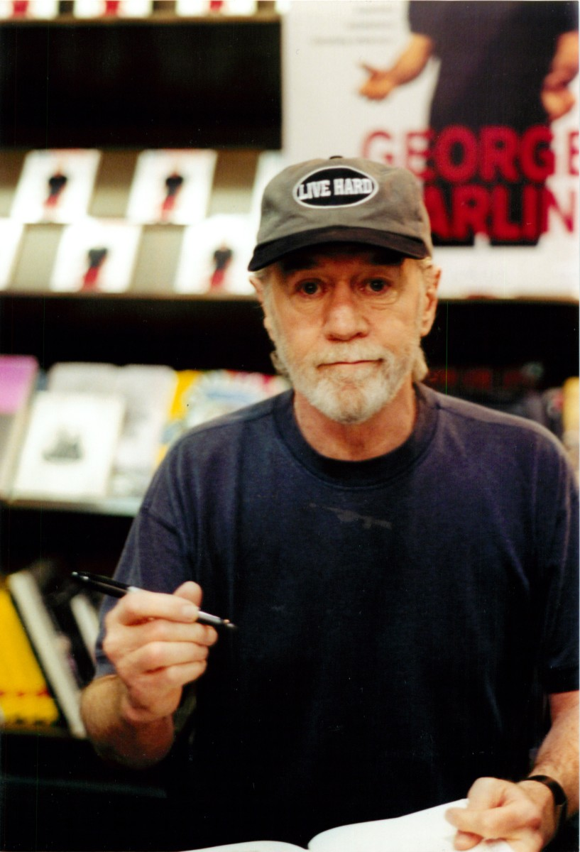 George Carlin at a book signing in New York City.