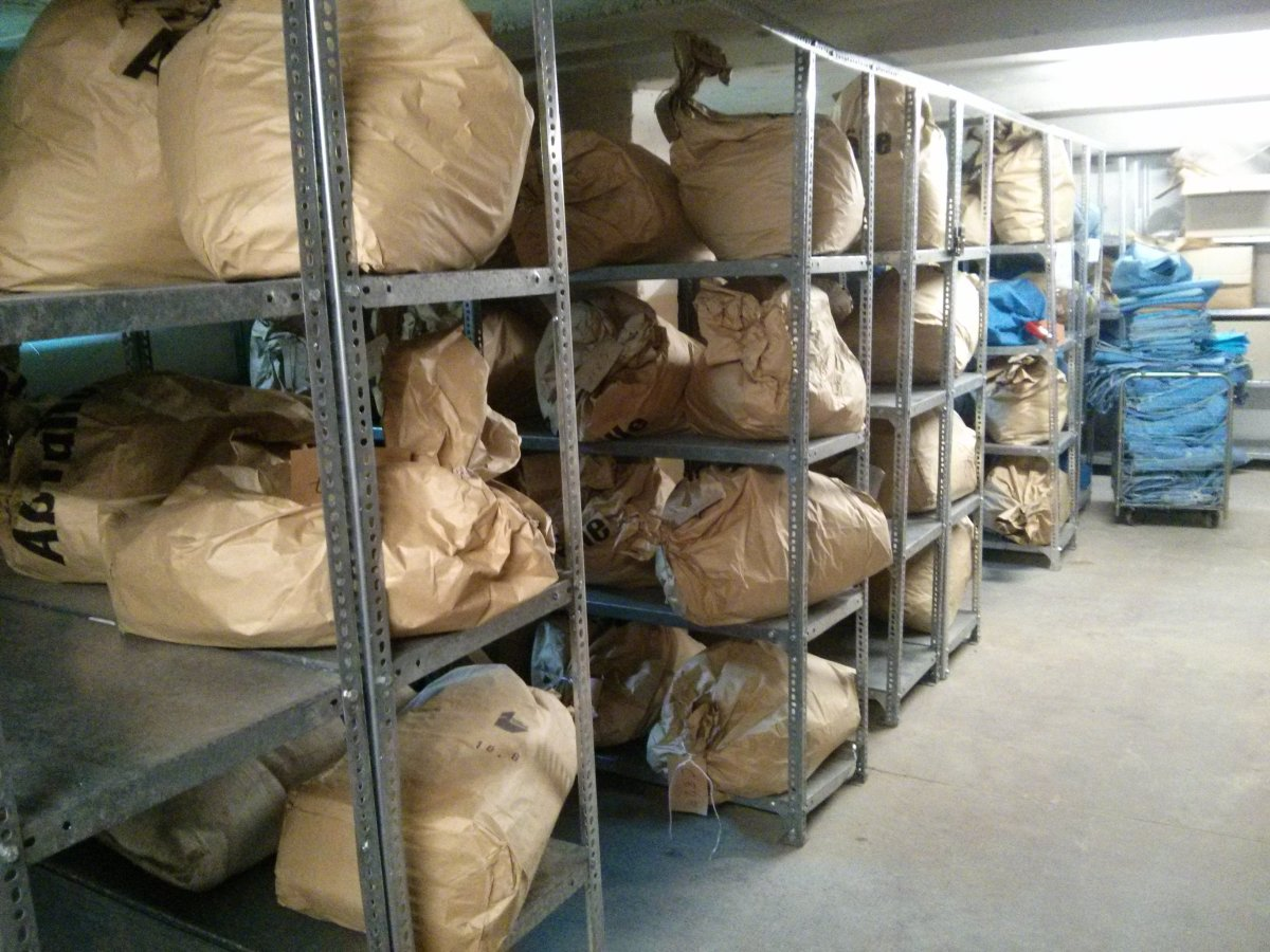 The storage room.