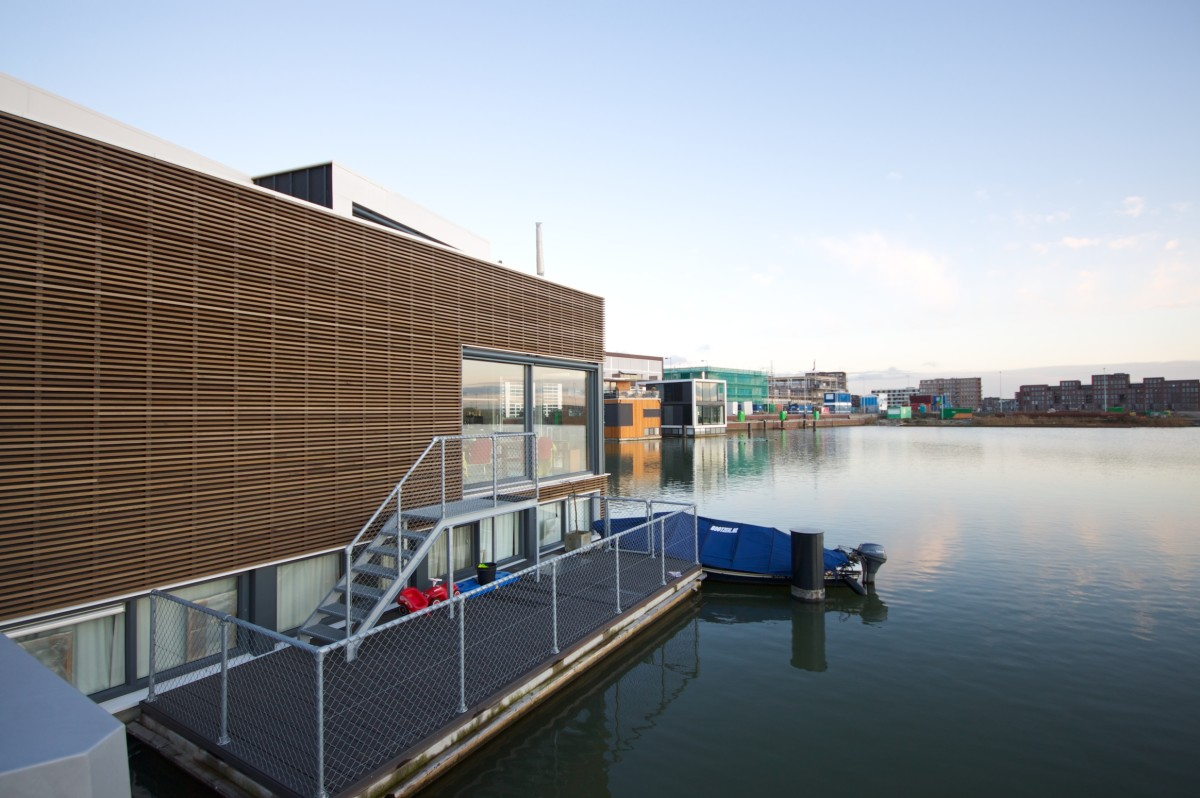A floating home in IJburg, Amsterdam.