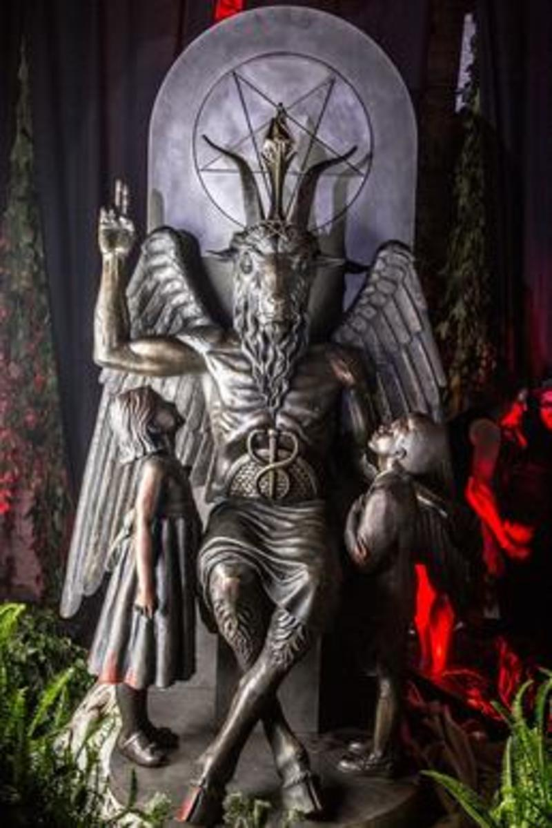 The Satanic Temple's Baphomet statue.