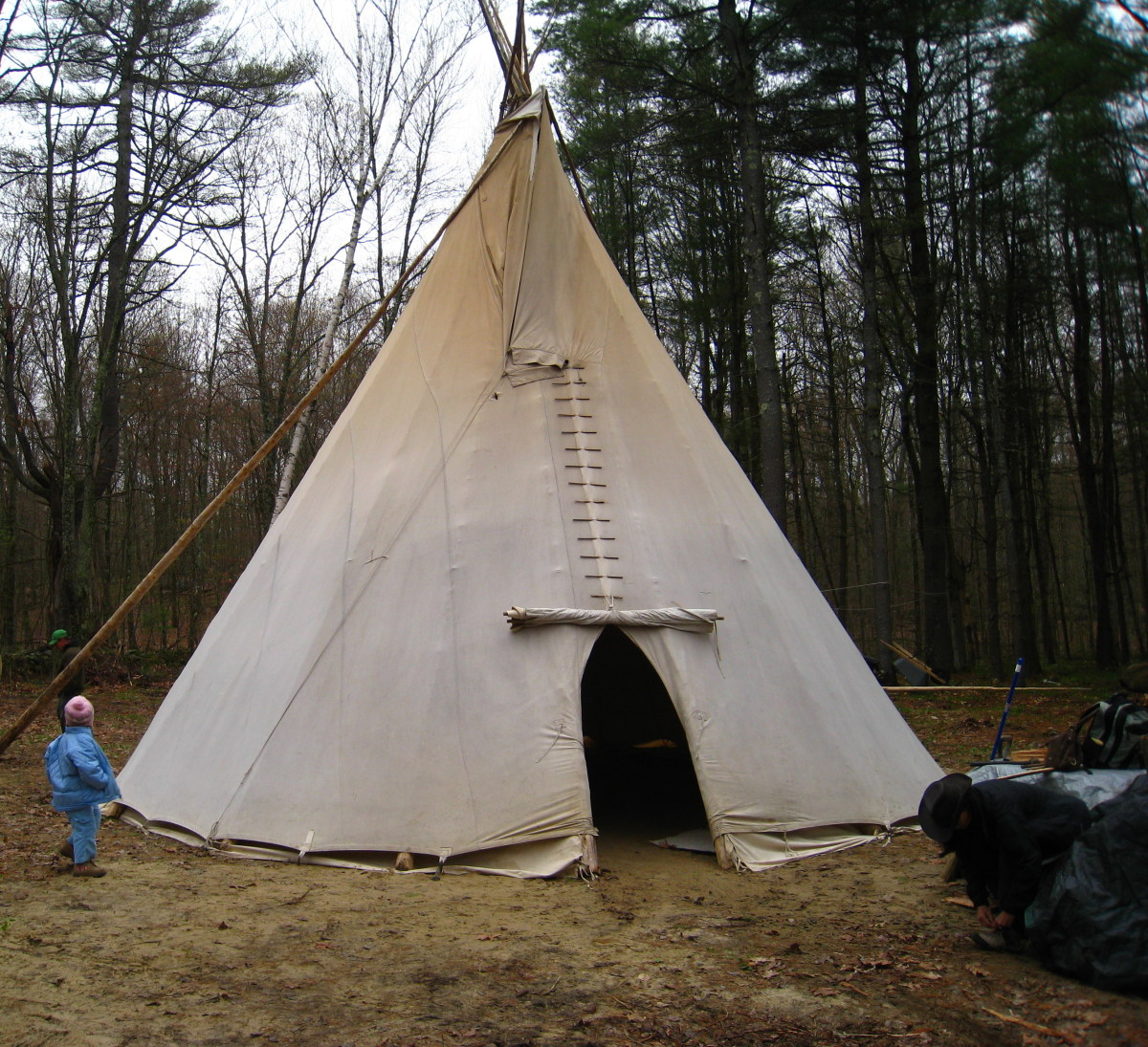 This tipi is used for Peyote ceremonies in the Native American Church.
