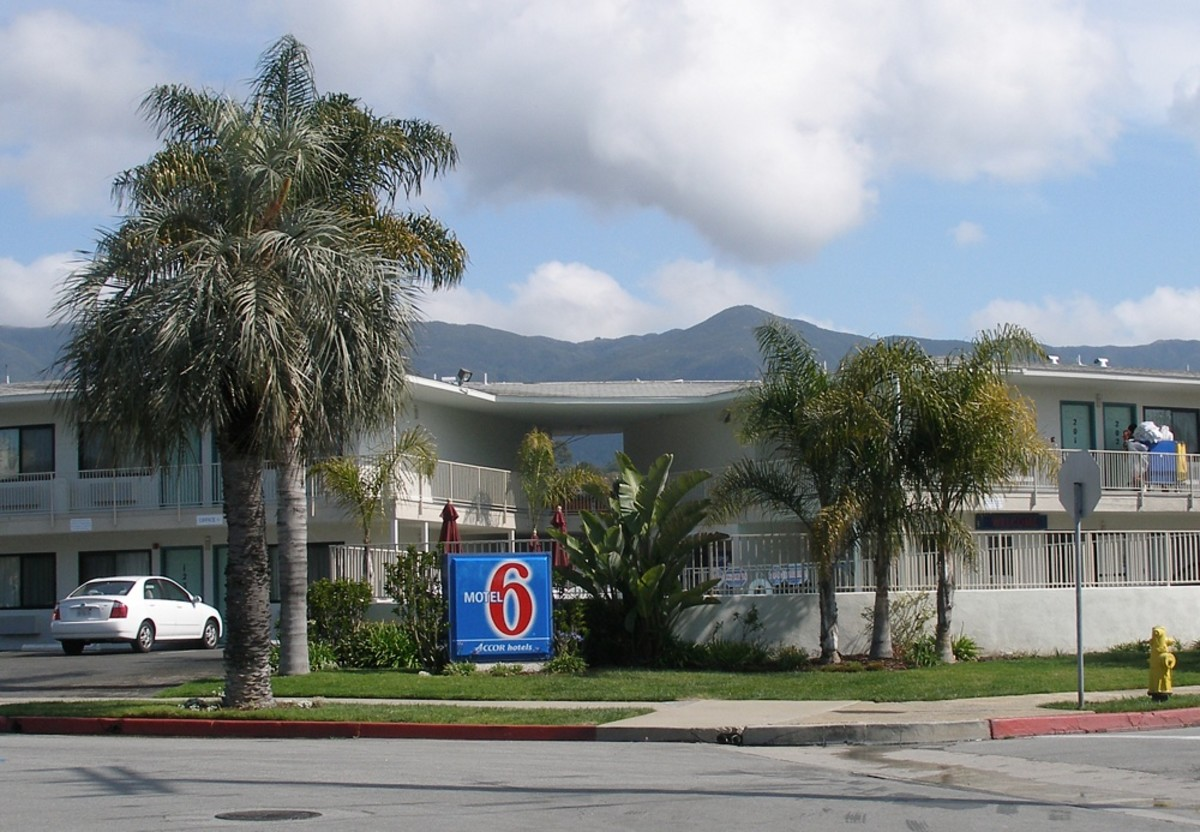 A Motel 6 in Santa Barbara, California.