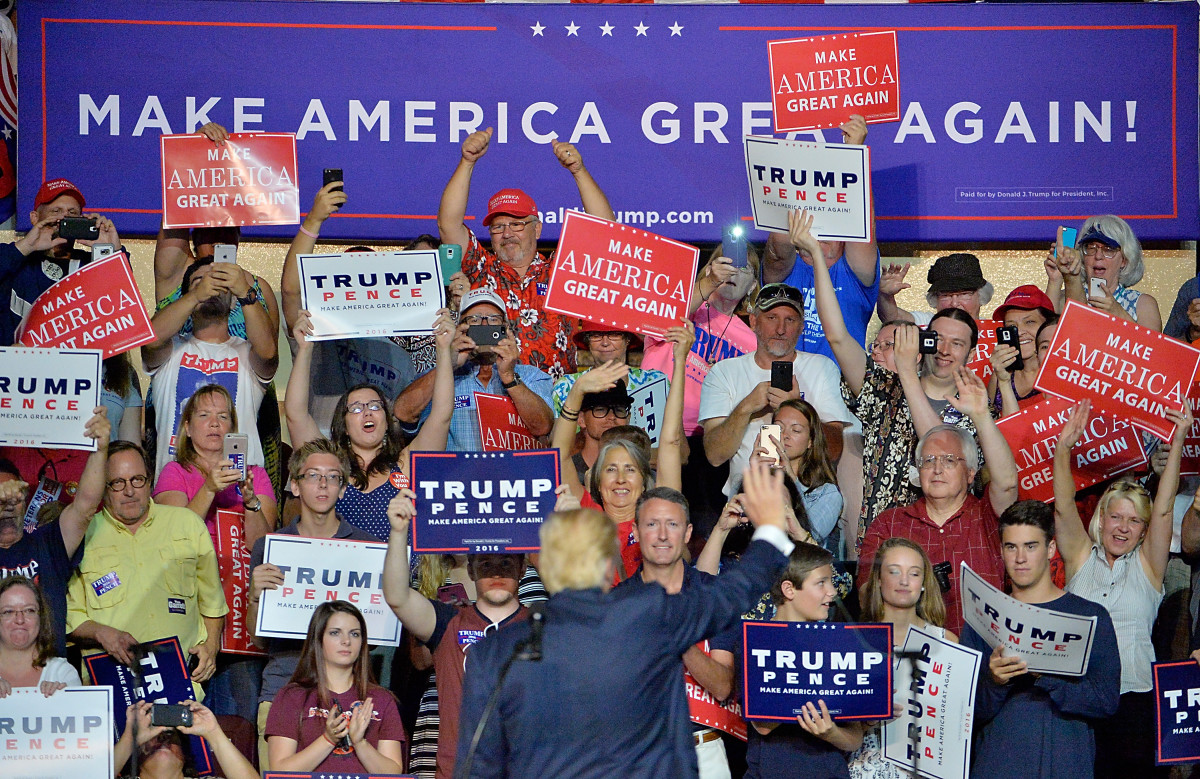 Donald Trump Waves To Supporters In Roanoke Virginia On September 24th 2016