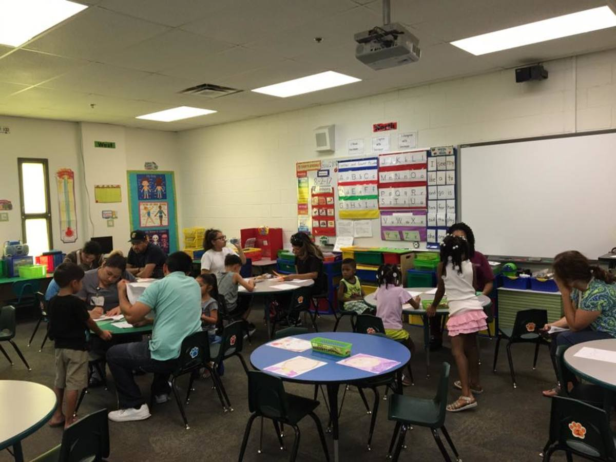 Students in a classroom at Tolleson Elementary School.