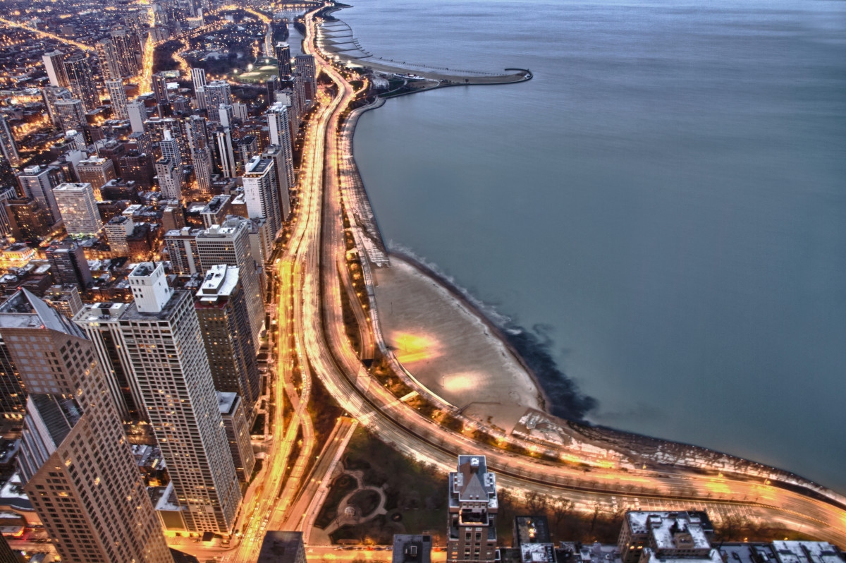 Lake Shore Drive in Chicago, Illinois.