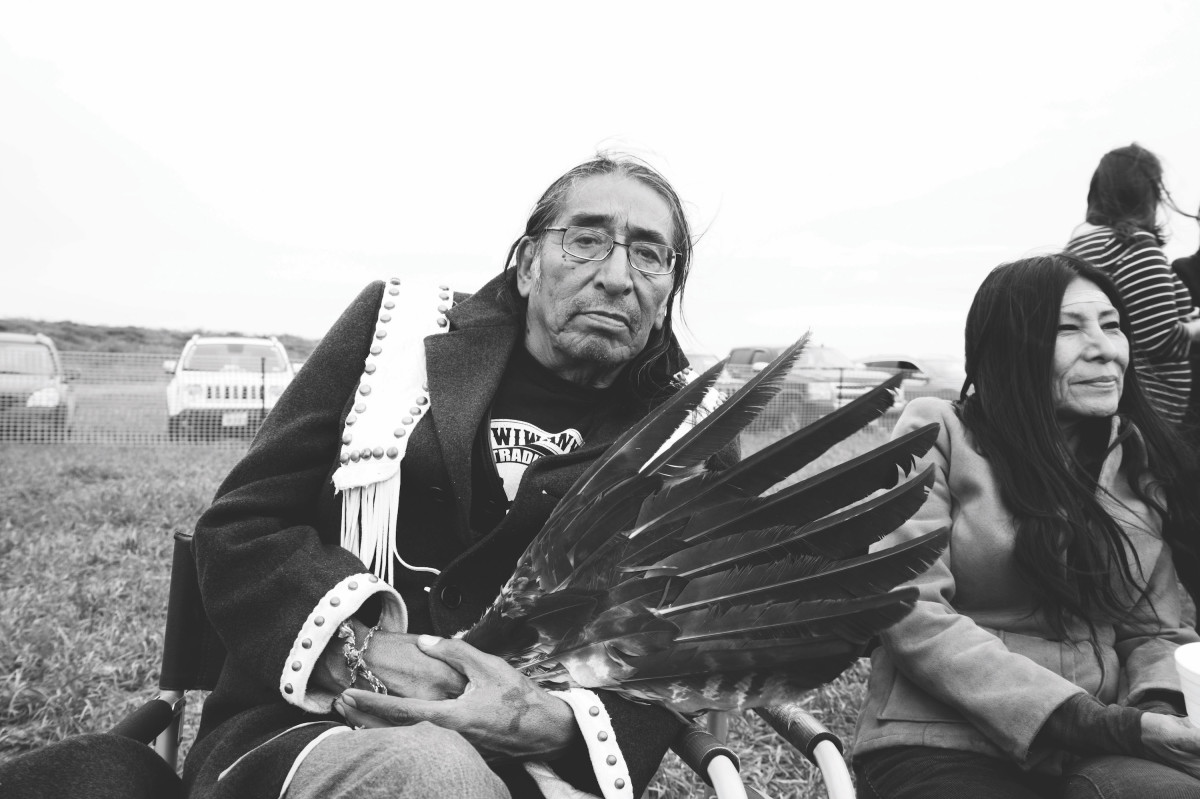 Spiritual leader and medicine man David Swallow Jr., who was born on the Pine Ridge Sioux reservations in South Dakota.