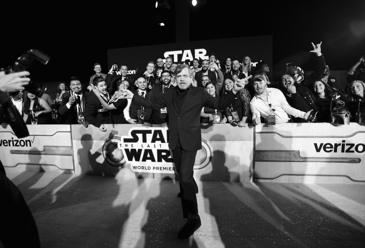 Actor Mark Hamill at the world premiere of Lucasfilm's Star Wars: The Last Jedi at The Shrine Auditorium on December 9th, 2017, in Los Angeles, California.