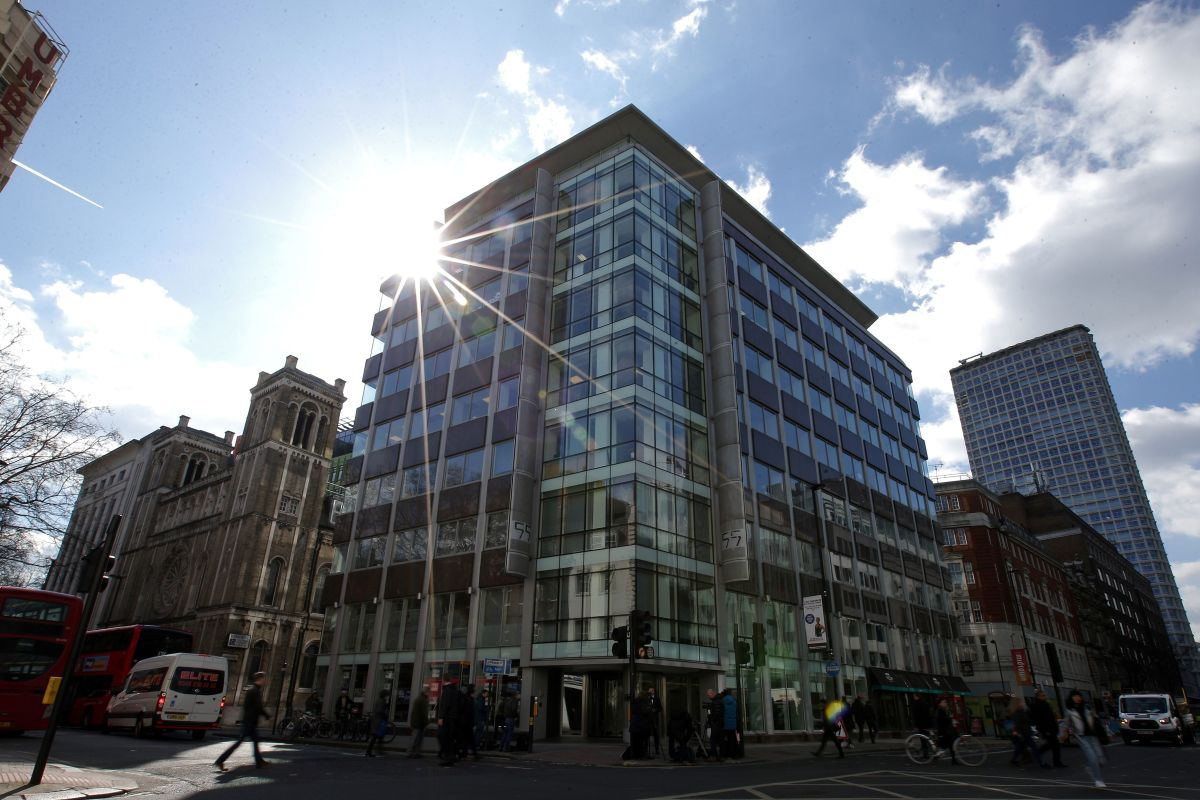 The building that houses the offices of Cambridge Analytica in central London.