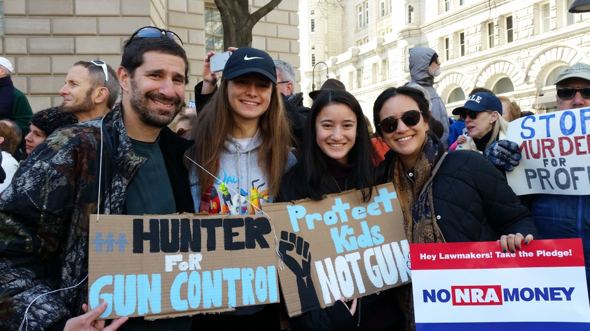 From left: Danny Bennett, Sidney, Hope, and Leanna.