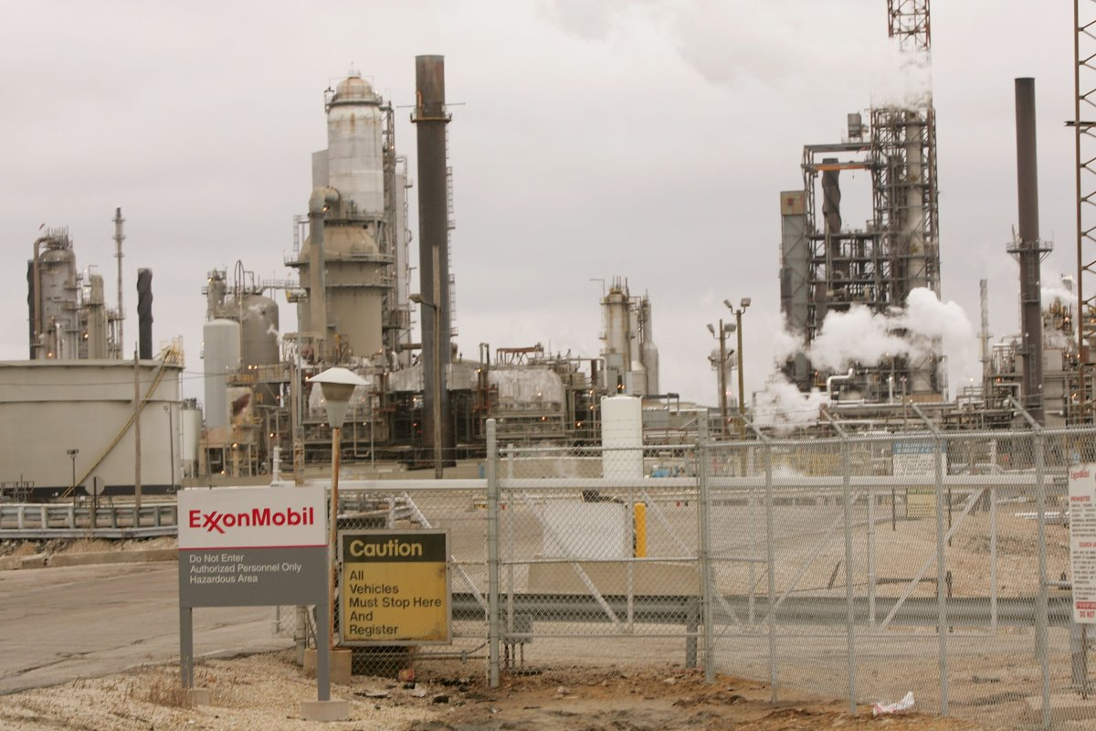 The ExxonMobil refinery in Joliet, Illinois.