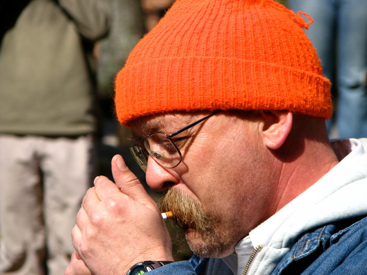 Gary Cantrell lights a cigarette to signal the start of the Barkley Marathons in 2009.