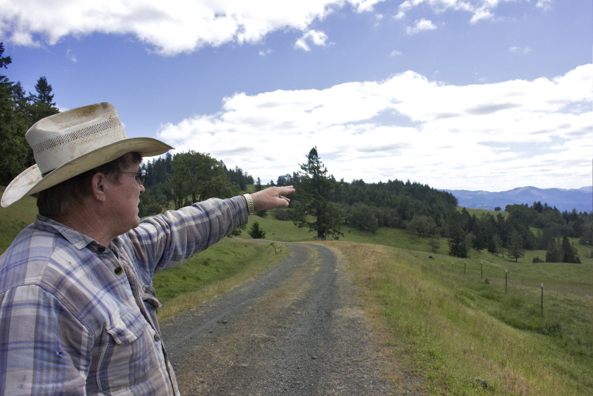 Bill Gow at home on his property in Jackson County, Oregon.