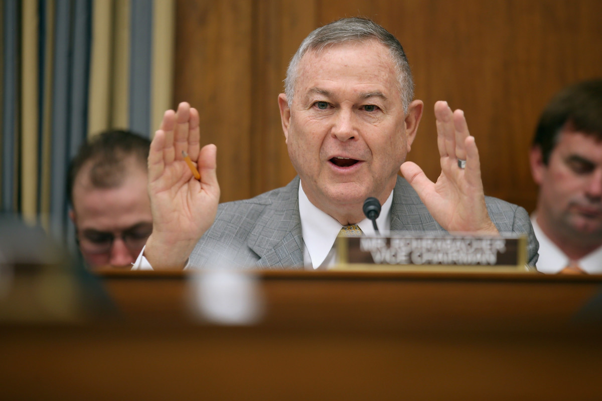 Representative Dana Rohrabacher, pictured here on March 19th, 2013.