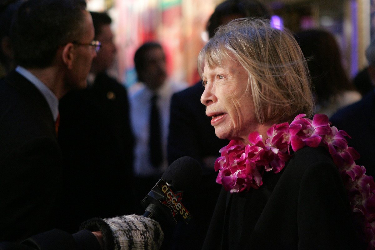 Joan Didion on March 29th, 2007, in New York City.