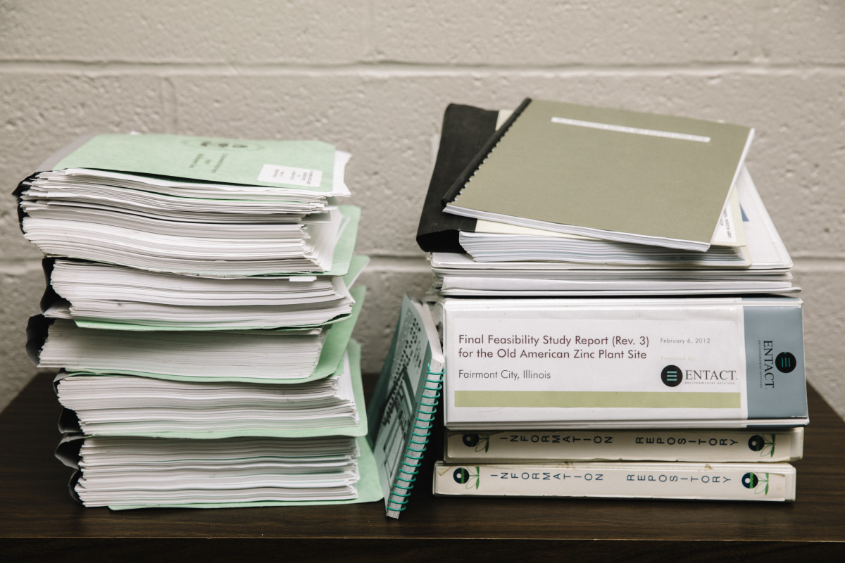 Documents pertaining to the EPA's designation of the old American Zinc plant as a Superfund site are stored at the local library in Fairmont City, Illinois.