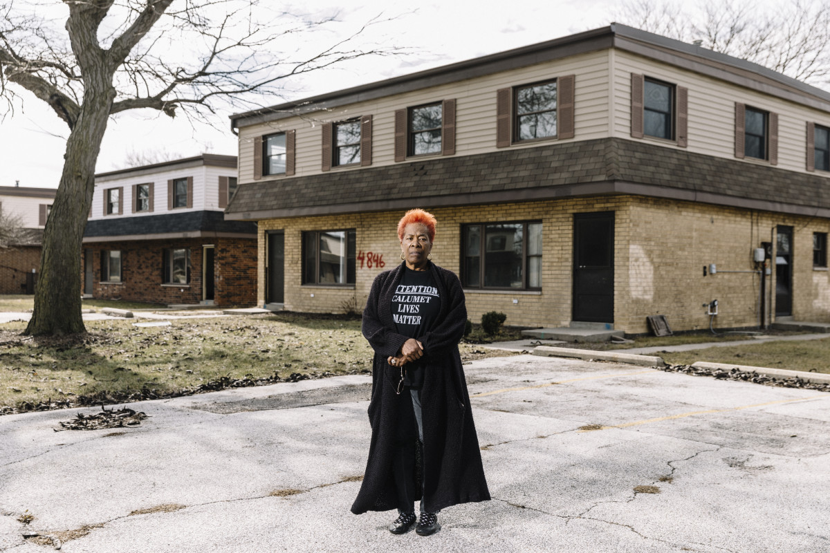 A resident of the West Calumet Housing Complex in East Chicago, Indiana.