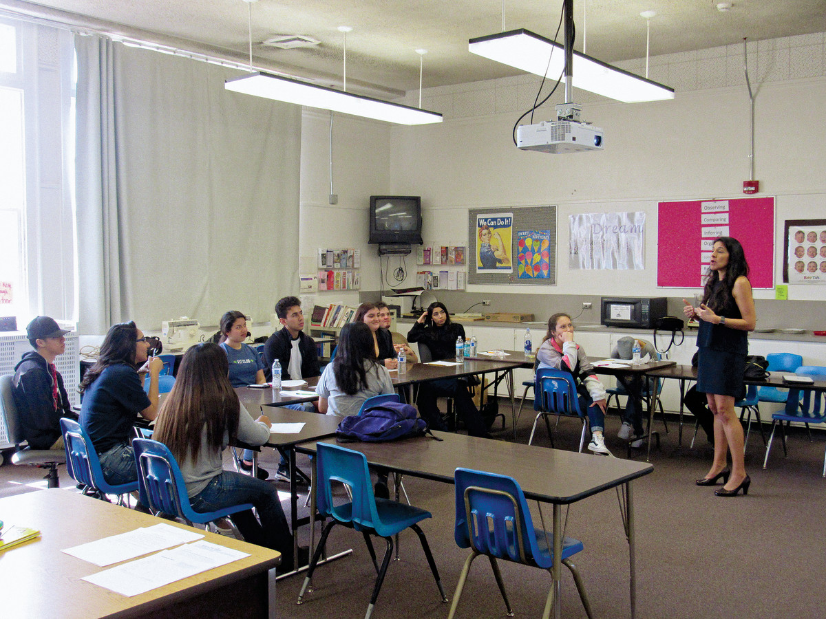 Annie Delgado's classroom in Golden Valley High School, in Central California.
