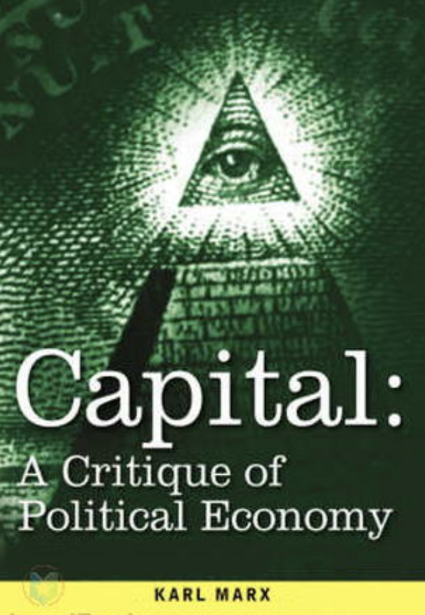 A cover for 'Capital: A Critique of Political Economy'