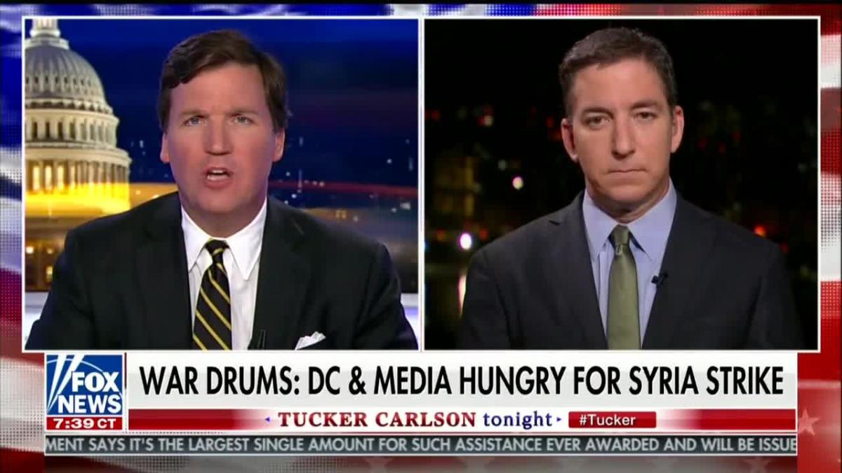 Tucker Carlson interviews Glenn Greenwald about U.S. strikes in Syria on April 10th, 2018.