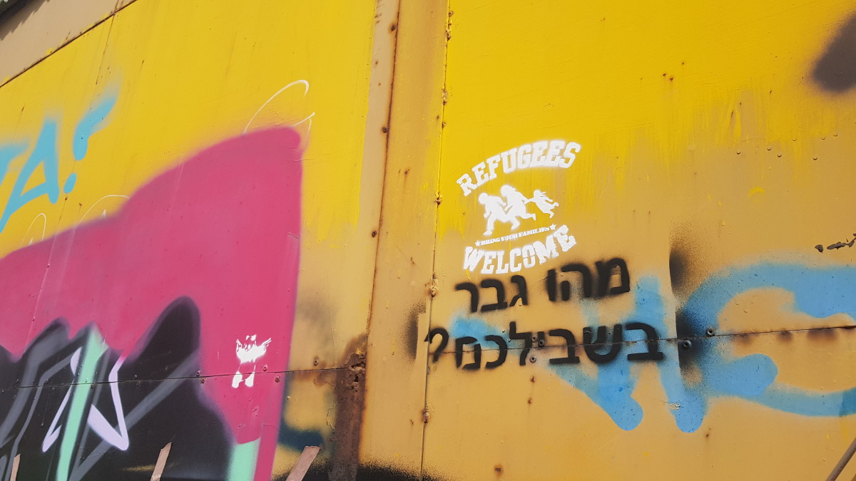 Graffiti is rampant in parts of South Tel Aviv, most notably where many African migrants have come to settle after being dispersed here by the government.