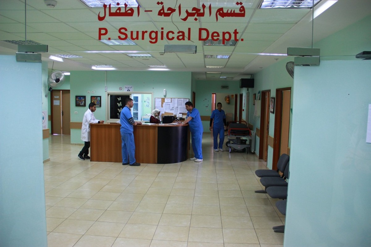 Palestine Red Crescent Society's pediatric hospital in Hebron, Israel.