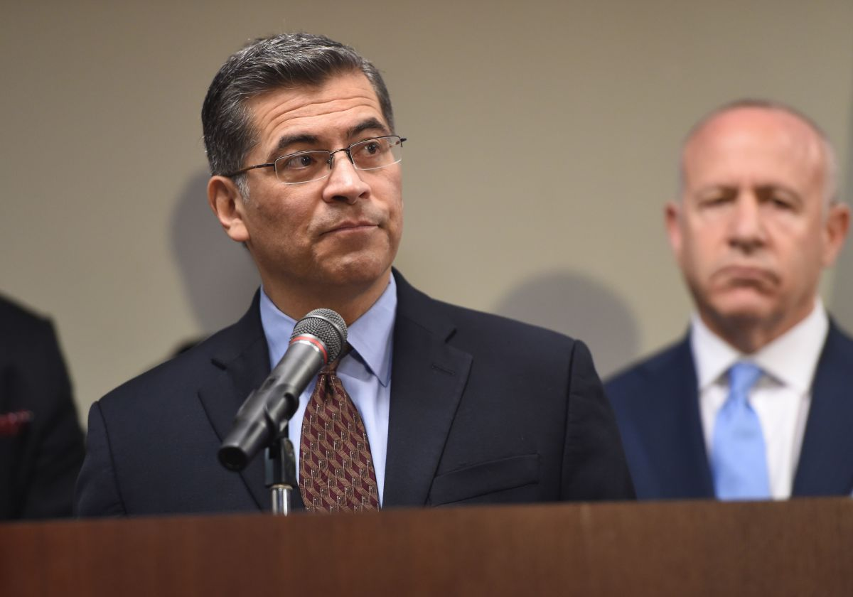 California Attorney General Xavier Becerra.