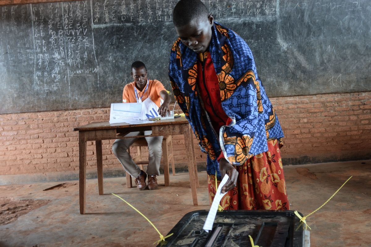 A woman casts her vote at a polling station in Ciri, northern Burundi, on May 17th, 2018, during a referendum on constitutional reforms that, if passed, will shore up the power of incumbent president and enable him to rule until 2034. For many critics, the referendum is yet another blow to hopes of lasting peace in the fledgling democracy, which experienced decades of conflict marked by violence between majority Hutu and the minority Tutsi who had long held power.