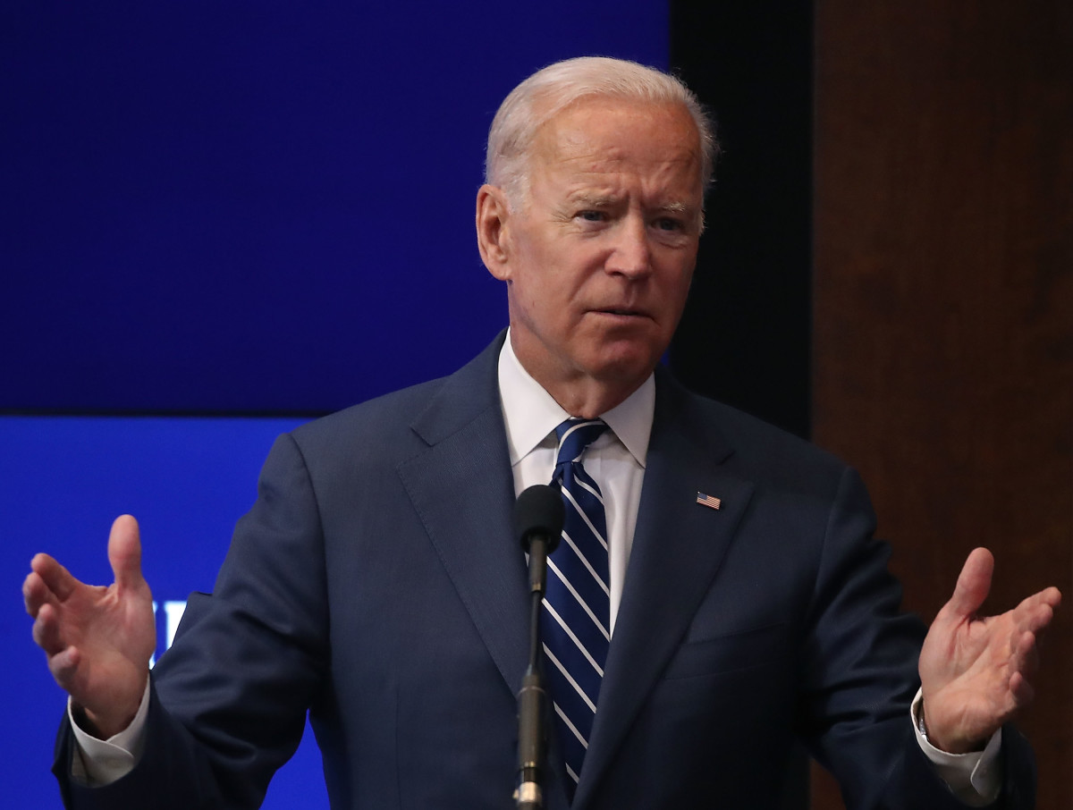 Joe Biden delivers a speech at the Brookings Institution on May 8th, 2018, in Washington, D.C.