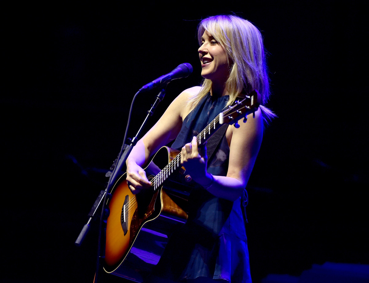 Musician Liz Phair performs at The Theatre at Ace Hotel on March 26th, 2016, in Los Angeles, California.
