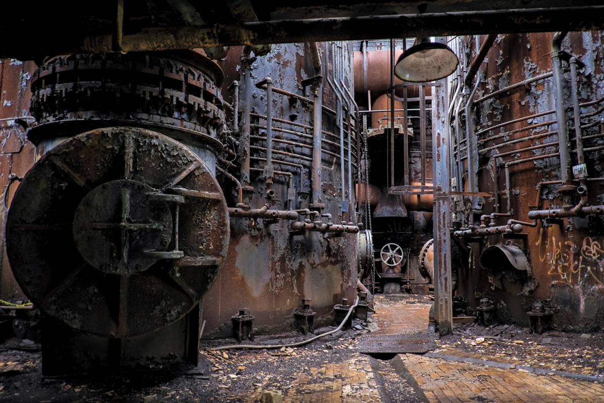 Rankin, Pennsylvania: Built in the 19th century as part of the Homestead Steel Works complex, the Carrie Furnaces produced up to 1,250 tons of iron per day at their peak in the 1950s and '60s.
