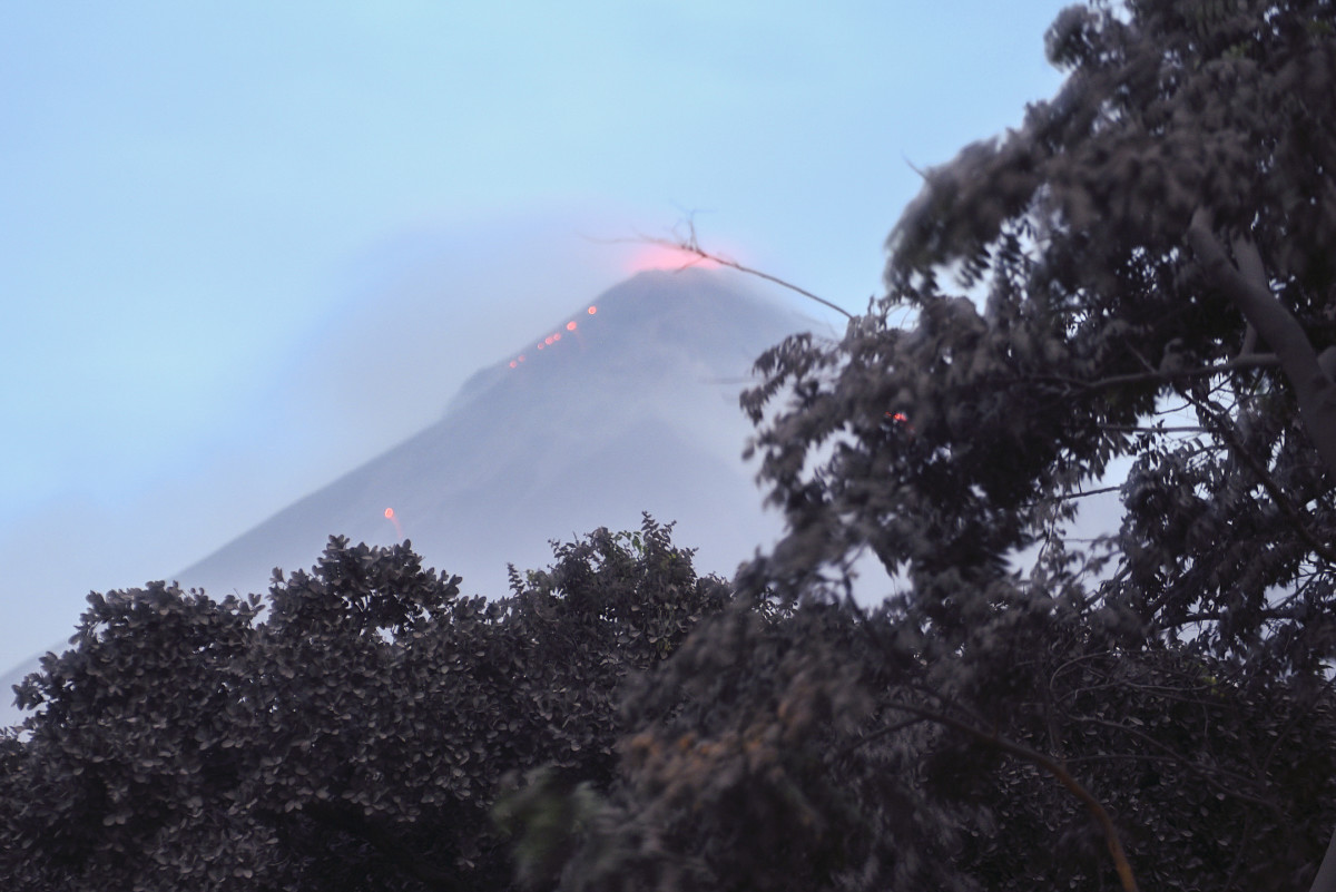 The Fuego volcano in eruption, seen from Los Lotes, Rodeo, in Escuintla, about 35 kilometers south of Guatemala City, on June 4th, 2018.