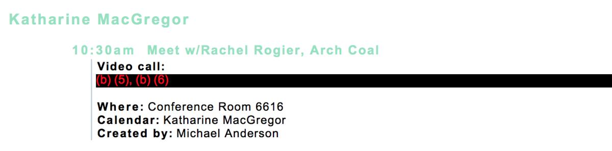 Macgregor Arch Coal