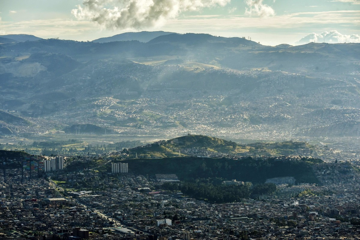 The south side of Bogota, Colombia.