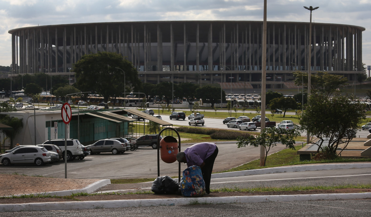 Brazil's 72,000-seat Mane Garrincha Stadium is now used primarily as a municipal bus parking lot.