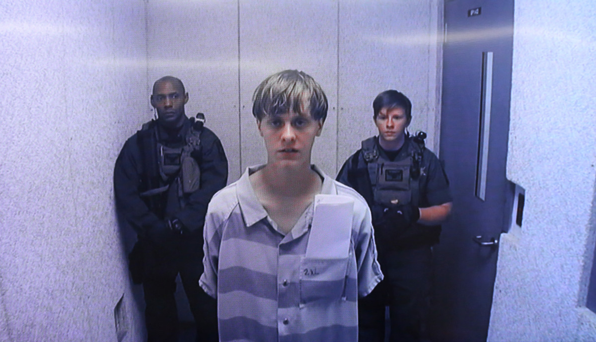 Dylann Roof appears at the Centralized Bond Hearing Court on June 19th, 2015, in North Charleston, South Carolina.