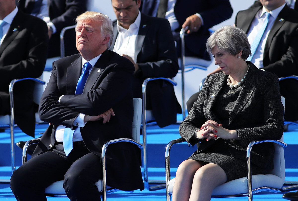 U.S. President Donald Trump and British Prime Minister Theresa May.
