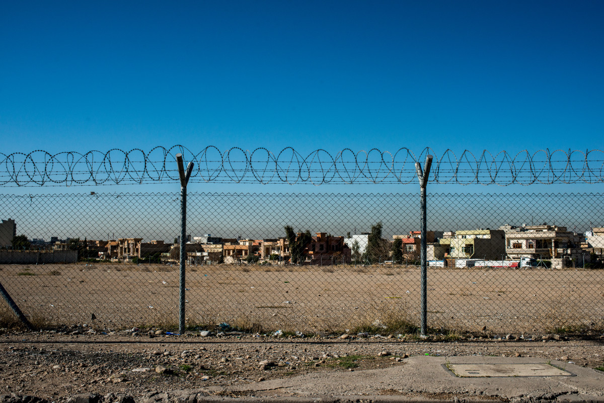 A view of the outside of the juvenile prison in Erbil which holds underage offenders who supported ISIS.