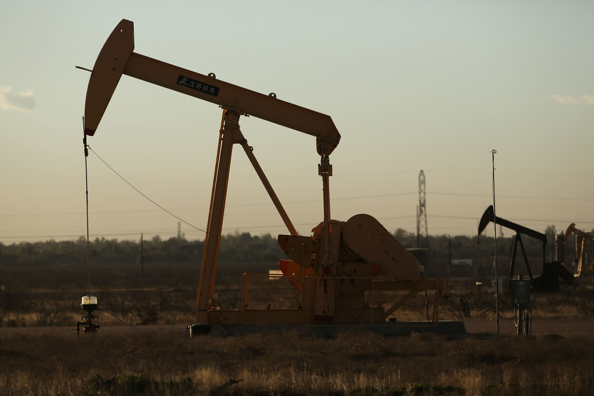 A pump jack sits on the outskirts of town in the Permian Basin oil field on January 21st, 2016 in the oil town of Midland, Texas.