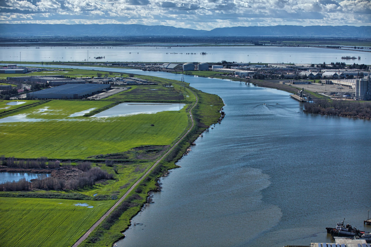 A view of the Sacramento–San Joaquin Delta from Sacramento.