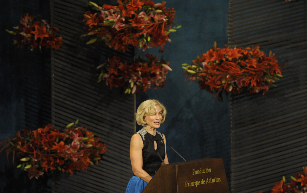 Martha Nussbaum gives a speech after receiving the Prince of Asturias Award for Social Sciences on October 26th, 2012, in Oviedo, Spain.