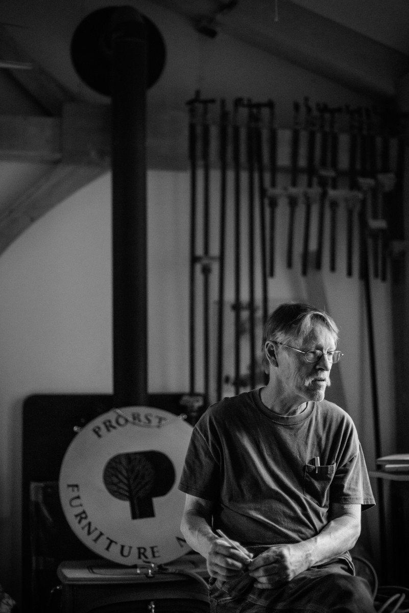 Jim Probst at home in his workshop.