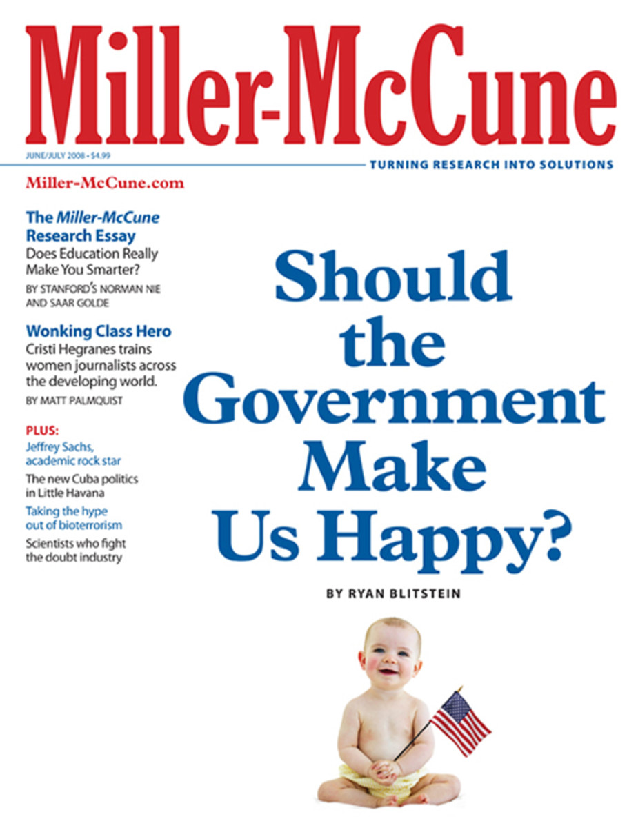 A version of this story originally appeared in the June/July 2008 issue of Miller-McCune. Subscribe now to support journalism in the public interest.